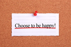 Choose to be happy Royalty Free Stock Photos