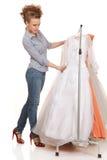 Choose wedding dress Stock Photos