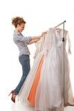Choose wedding dress Royalty Free Stock Photography
