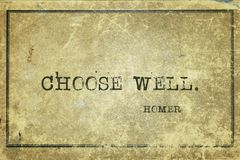 Choose well Homer Stock Photos