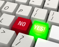 Choose YES! Keyboard Stock Image