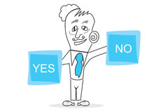 Choose, Yes or No. Abstract design can be used in many jobs Stock Image