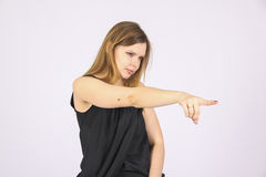 We choose you! pointing with finger Royalty Free Stock Photography