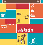 Choose Your Best Summer Vacation. Tourist Brochure Stock Image