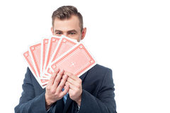 Choose your card to play ! Royalty Free Stock Photos