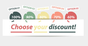 Choose your discount Royalty Free Stock Image