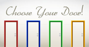 Choose your door. future and opportunities concept Royalty Free Stock Photography