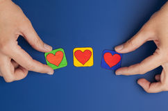 Choose your heart Stock Images