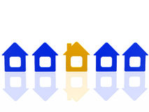 Choose your house Royalty Free Stock Photography