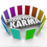 Choose Your Karma Many Doors Paths Fate Destiny Luck Stock Photography