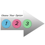 Choose Your Option Arrow 123 Royalty Free Stock Photo