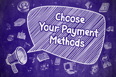 Choose Your Payment Methods - Business Concept. Stock Images