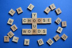 Free Choose Your Words, Words And Phrases Stock Images - 175233994