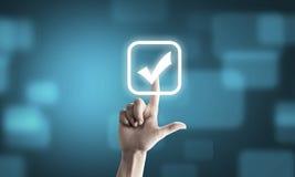 Choosing application Stock Photos