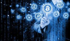 Choosing bitcoins Royalty Free Stock Images