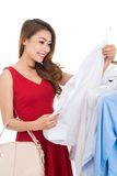 Choosing a blouse Royalty Free Stock Photo