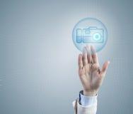 Choosing camera application Stock Image