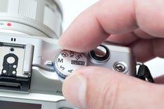 Choosing a camera mode Stock Image