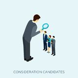 Choosing A Candidate Concept Illustration Royalty Free Stock Photo