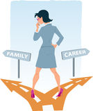Choosing between career and family Stock Image