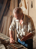Choosing carpentry tools Stock Photo