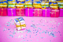 Choosing Christmas gifts Royalty Free Stock Photo