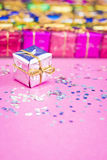 Choosing Christmas gifts Stock Photography