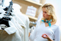 Choosing clothes Royalty Free Stock Photo