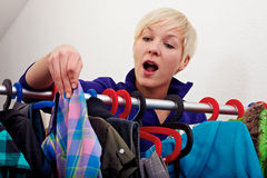 Choosing clothes Stock Photo