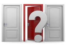 Choosing a Door - 3D Stock Image