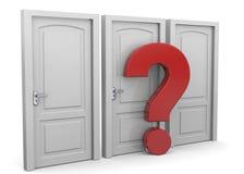 Choosing a Door - 3D Royalty Free Stock Image
