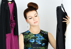 Choosing dress Stock Photography