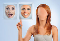 Choosing face Royalty Free Stock Images