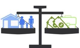 Choosing family or career Stock Photo