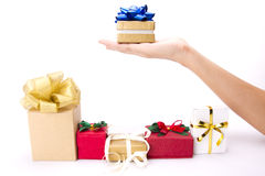 Choosing gift Stock Photos