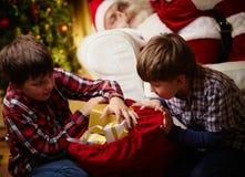 Choosing gifts Stock Photos