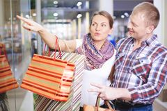 Choosing gifts Stock Photography