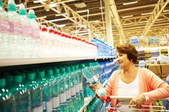 Choosing good water Royalty Free Stock Photo