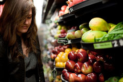 Choosing Groceries Stock Photos