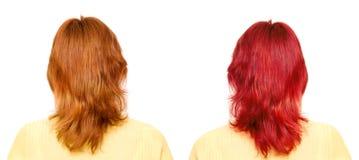 Choosing holiday hair. Color digitally Royalty Free Stock Images