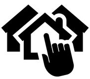 Choosing home icon Royalty Free Stock Photos