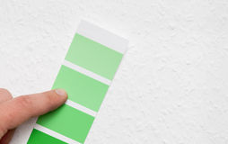 Choosing home wall color Stock Photo