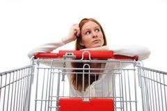 choosing housewife shopping Στοκ φωτογραφίες με δικαίωμα ελεύθερης χρήσης