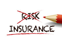 Choosing insurance instead of risk with a red pen Stock Photography