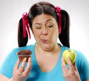 Choosing my diet. Stock Photography