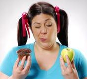 Choosing my diet. Stock Photography