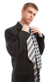 Choosing the necktie Stock Photo
