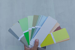 Choosing a new color of the facade. Royalty Free Stock Image