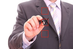 Choosing option Stock Image