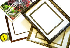 Choosing a Picture Frame Stock Photo